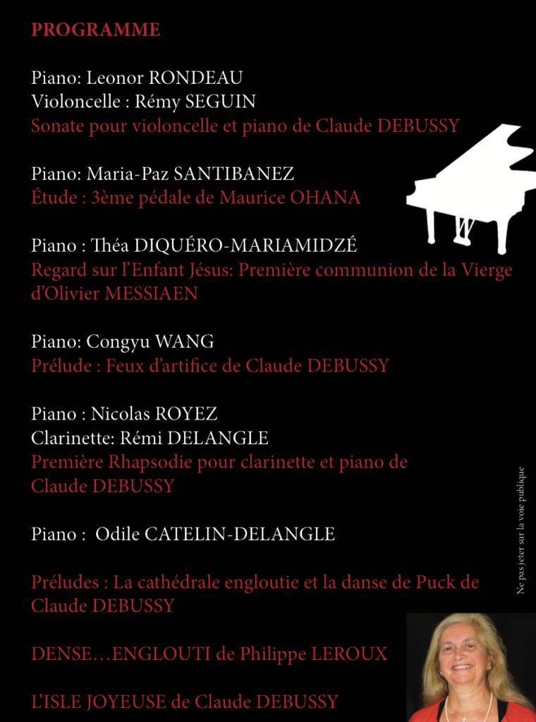 Concert de musique française <br> hommage à Claude Debussy